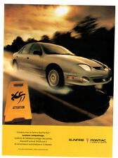 2001 PONTIAC Sunfire SLX Original Print AD - Grey car photo sunlight speed wet