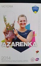 VICTORIA AZARENKA 5X7 2014 WESTERN & SOUTHERN TENNIS PLAYER COLLECTOR CARD ATP