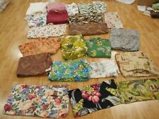 Lot of 60 yds Vintage Antique Cotton BARKCLOTH UPHOLSTERY Fabric Drape CURTAIN