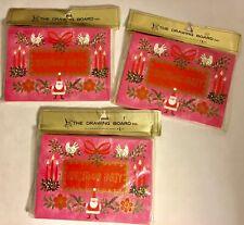 30 Vintage Drawing Board Invitations Holiday Christmas Party Santa Doves Pink