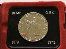 1973 Canada Royal Canadian Mounted Police Commemorative Dollar 50% Silver w/Box