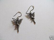 "Vintage 925 Sterling silver  Fairy drop earrings pixie elf magic fantasy 1.6"""