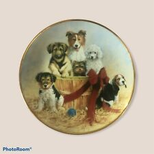 """New listing Franklin Mint Collector Plate """"Basket of Cheer"""" number F1937"""