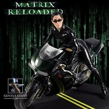 Gentle Giant Matrix Reloaded TRINITY on Motorcycle 1/6 Scale Statue Very Rare