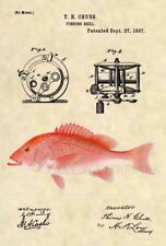 Official Red Snapper US Patent Art Print- Antique Vintage Saltwater Fish 508