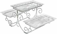 Brand New James Scott Crystal 3 Tier Rectangle Server 3 Tiered Tray