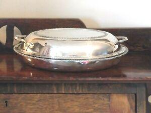 """VINTAGE LARGE 12 """"  OVAL TUREEN ENTREE DISH & LID REGIS PLATE TABLEWARE  1930s"""
