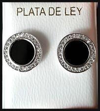PENDIENTES DE PLATA DE LEY 925 ML,CON CIRCONITAS MICROENGASTADAS,SILVER EARRINGS