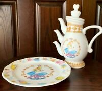 Tokyo Disney Alice in Wonderland Tea Pot & Plate Set Disneyland
