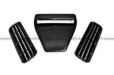 New 3Pcs ABS Universal EVO Type Hood Vents Scoop Bonnet Air Vents Flow Vent Duct