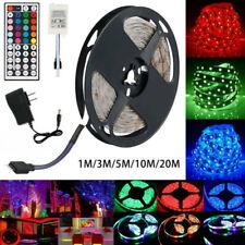 5m RGB LED Strip Lights 300 LEDs 3528 Full Kit 44 Key IR Remote DC 12v AU Power