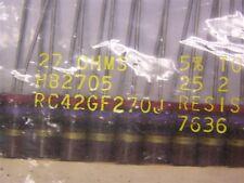2 Allen Bradley RC42GF270J 27 Ohms 2W 5% Carbon Comp Resistors