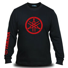 Genuine Yamaha Red Logo Motorcycle Motocross SBK Black Long Sleeve Tee T-Shirt
