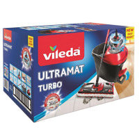 Vileda UltraMat Turbo Eimer Bodenwischer Wischmop Wischer Easy Wring Clean