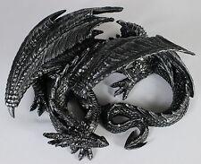 SLEEPING DRAGON STATUE Resin Figure NEW Serpent Gothic Fantasy Horror Monster