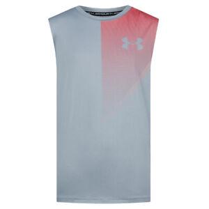 Under Armour UA Raid Kids Grey Vest ua HeatGeart Boys Sleeveless Tank Top XLB