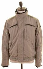 TRUSSARDI Mens Windbreaker Jacket IT 48 Medium Grey Polyester  GP24