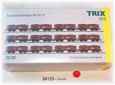 Trix 24120 Selbstentladewagen-Set Erz Id der DB 12-teilig #NEU in OVP#