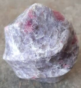 Lepidolite and Pink Tourmaline in Quartz flame (1)
