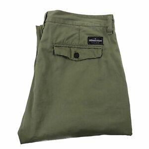 Billabong New Order Cotton Green Chinos/Pants/Trousers Straight Leg W36 L32