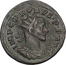 PROBUS 281AD Dotted legend Authentic Rare Ancient Roman Coin Minerva i51080