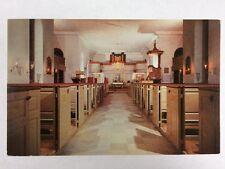 Bruton Parish Church Interior in Williamsburg, Virginia Chrome Postcard Unused