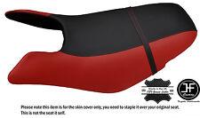 Noir & rouge foncé custom fits seadoo gtx gti 97-01 avant vinyle housse de siège + sangle