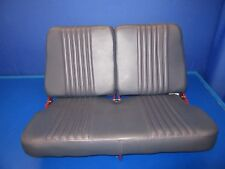 Cessna R182 Rear Seat Gray Leather w/ Red Stitching Reclines (0917-96)
