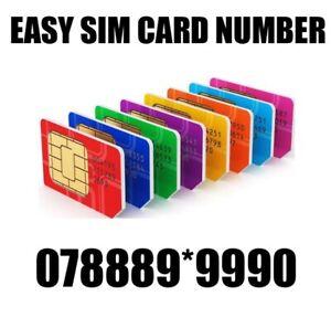 GOLD EASY VIP MEMORABLE MOBILE PHONE NUMBER DIAMOND PLATINUM SIMCARD 9999