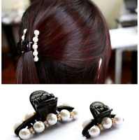Elegant Flower Crystal Hair Clip Rhinestone Hairpin Claw Clamp Headwear Women