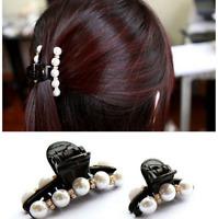 Fashion Acrylic Crystal Rhinestone Plastic Hair Claw Clamp Clip Hairpin