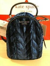 KATE SPADE Briar Lane Quilted Crushed Velvet Mini Convertible Backpack ~ NWT