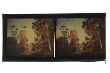 Photographie Autochrome Paysage Vintage Plaque Stereo ca 1910