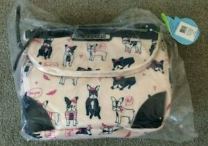 NEW Lily Bloom Oui Frenchie Ruth Flap ECO Puppy Dog Rare Pink Bag Rosetti $55