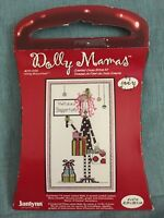 Janlynn Dolly Mamas Holiday Shopportunist Counted Cross Stitch Kit #019-0422 NIP
