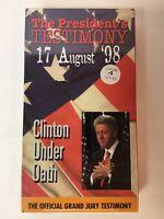 The President's Testimony Bill CLINTON UNDER OATH  VHS NEW Monica Starr Report