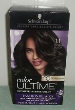 Schwarzkopf Hair Color Ultime Permanent 1.1 RAVEN BLACK ~ Choose Quantity New