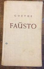 Goethe Fausto - Esperanto Faust- 1949 HB Cloth Boards