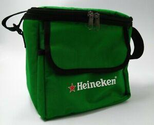 Heineken Cooler Bag Green Red Star Zippered Hook and Loop Pocket Beer Holland