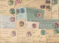 DEUTSCHES REICH Belegelot aus GÖRLITZ mit Pfennig-Germania Frankaturen (60891)