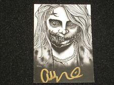 ADDY MILLER Signed Custom TEDDY BEAR GIRL Trading Card The Walking Dead