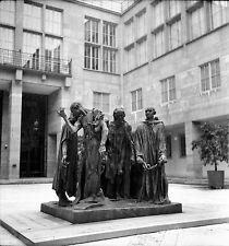 SUISSE c. 1950 - Sculpture Rodin Les Bourgeois de Calais - Négatif 6 x 6 - Sui 9