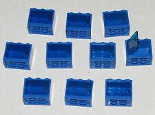 LEGO LOT OF 10 BLUE 2 X 3 X 2 CUPBOARDS CONTAINERS CABINETS TOWN HOME CITY PARTS