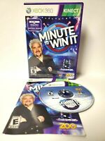 Minute to Win It (Microsoft Xbox 360, 2011) Complete with Manual Kinect