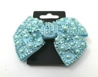 SPARKLY PEARL AND RHINESTONE BLUE  HAIR SLIDE SLIDE  CLIP GRIPS NEW