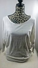 Express Womens Dolman Sleeve Batwing Scoop Neck Shirt~ Sz: Small~ White, Brown