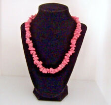 "PINK TURQUOISE NECKLACE SILVER 20"" EUC XXL LOBSTER CLW CLASP  last one"