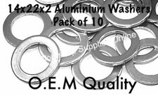 HONDA SUMP DRAIN PLUG  WASHER ALUMINIUM 14x22x2MM OEM SPEC 94109-14000