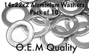 HONDA SUMP DRAIN PLUG  WASHER ALUMINIUM 14x22x2 OEM SPEC 94109-14000