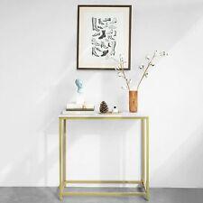 SoBuy Console Table Hallway Living Room, Gold W80 x D30 x H75cm